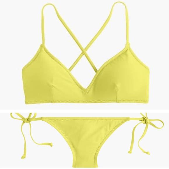J. Crew Other - J. Crew French Cross-Back String Hipster Bikini